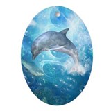 Dolphin Oval Ornaments