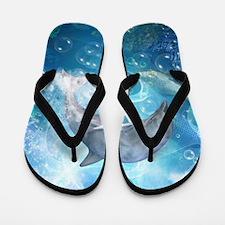 Wonderful dolphin Flip Flops
