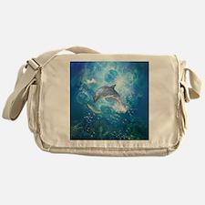 Wonderful dolphin Messenger Bag