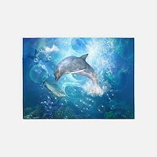 Wonderful dolphin 5'x7'Area Rug