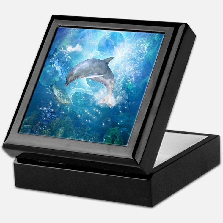 Wonderful dolphin Keepsake Box
