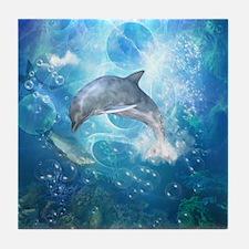 Wonderful dolphin Tile Coaster