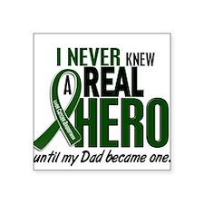 """Unique Emerald green grunge ribbon Square Sticker 3"""" x 3"""""""