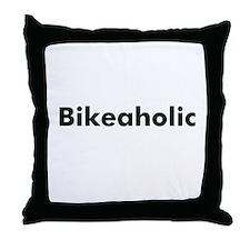 Bikeaholic Throw Pillow