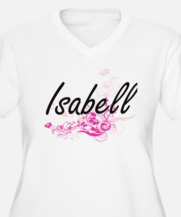 Isabell Artistic Name Design wit Plus Size T-Shirt
