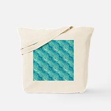 Blue Wavy Texture Tote Bag