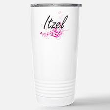 Itzel Artistic Name Des Stainless Steel Travel Mug