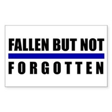 Fallen Blue Line Rectangle Decal