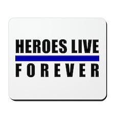 Heroes Blue Line Mousepad