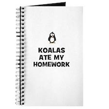 koalas ate my homework Journal