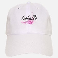 Izabella Artistic Name Design with Flowers Cap