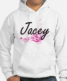 Jacey Artistic Name Design with Hoodie Sweatshirt