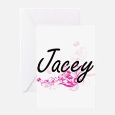 Jacey Artistic Name Design with Flo Greeting Cards