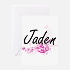 Jaden Artistic Name Design with Flo Greeting Cards