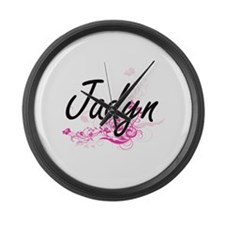 Jadyn Artistic Name Design with F Large Wall Clock