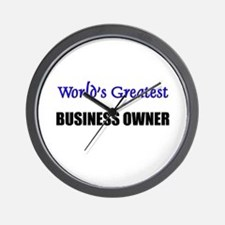 Worlds Greatest BUSINESS OWNER Wall Clock