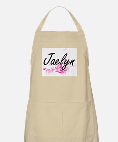 Jaelyn Artistic Name Design with Flowers Apron