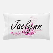 Jaelynn Artistic Name Design with Flow Pillow Case