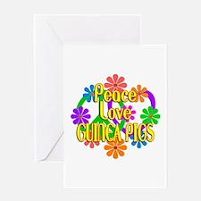 Peace Love Guinea Pigs Greeting Card