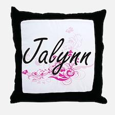 Jalynn Artistic Name Design with Flow Throw Pillow