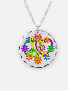 Peace Love Goats Necklace