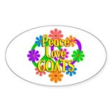 Peace love goats 10 Pack