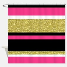 Unique Black and gold Shower Curtain