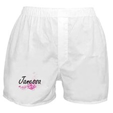 Janessa Artistic Name Design with Flo Boxer Shorts