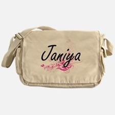 Janiya Artistic Name Design with Flo Messenger Bag