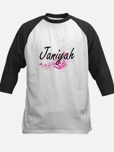 Janiyah Artistic Name Design with Baseball Jersey