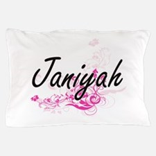 Janiyah Artistic Name Design with Flow Pillow Case