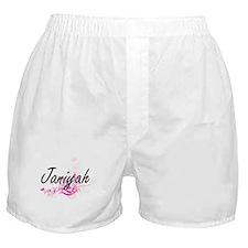 Janiyah Artistic Name Design with Flo Boxer Shorts