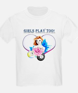 Girls Play Pool Too T-Shirt