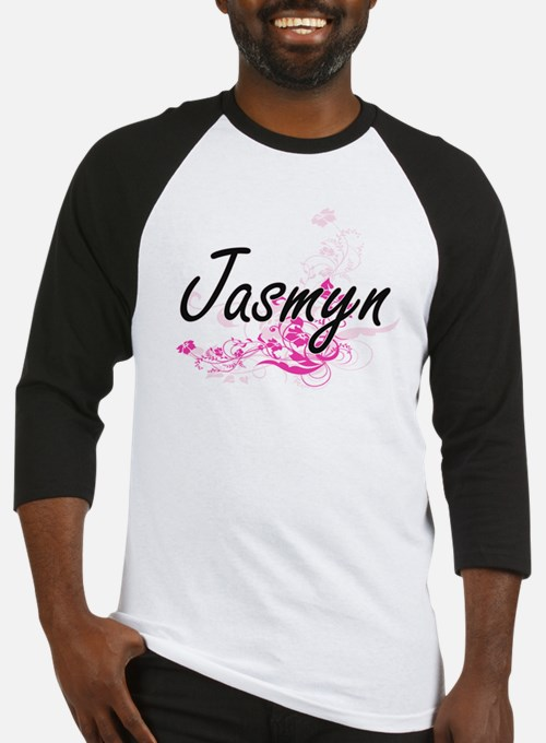 Jasmyn Artistic Name Design with F Baseball Jersey