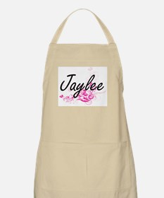 Jaylee Artistic Name Design with Flowers Apron