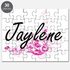Jaylene Artistic Name Design with Flowers Puzzle