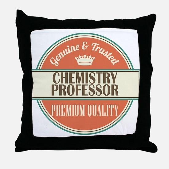 chemistry professor vintage logo Throw Pillow