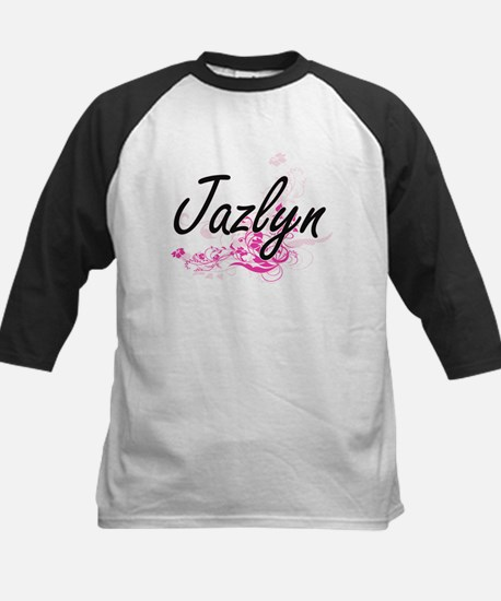 Jazlyn Artistic Name Design with F Baseball Jersey