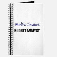 Worlds Greatest BUDGET ANALYST Journal