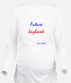 Cute Chalk Long Sleeve Maternity T-Shirt