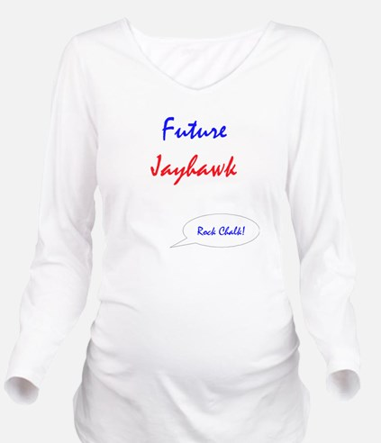 Cute Kansas Long Sleeve Maternity T-Shirt