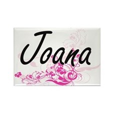 Joana Artistic Name Design with Flowers Magnets