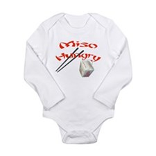 Cute Miso hungry Long Sleeve Infant Bodysuit