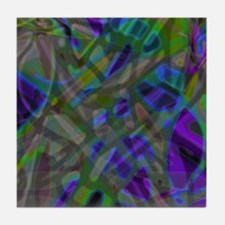 Colorful Stained Glass G3 Tile Coaster