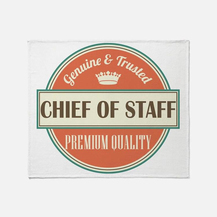 chief of staff vintage logo Throw Blanket