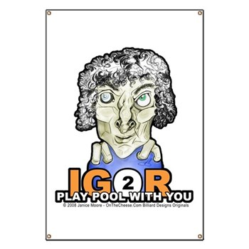 Igor To Play Pool With You Halloween Billiards Banner