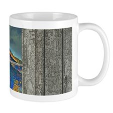 Autumn canyon cabin Mug