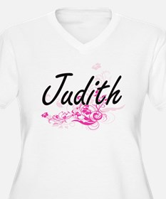 Judith Artistic Name Design with Plus Size T-Shirt