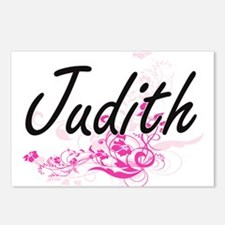 Judith Artistic Name Desi Postcards (Package of 8)