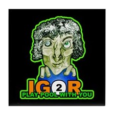 Billiard Halloween Igor 2 Play Tile Coaster